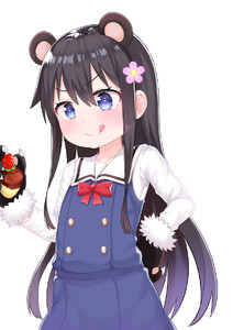 Rating: Safe Score: 0 Tags: 1girl :q _q animal_ears atg_(wttoo0202) bangs bear_ears black_gloves black_hair blue_dress blue_eyes blush bow closed_mouth cowboy_shot dress eyebrows_visible_through_hair flower food fruit fur-trimmed_gloves fur_trim gloves hair_between_eyes hair_flower hair_ornament hand_on_hip highres long_hair paw_gloves paws pink_flower red_bow sailor_collar sailor_dress school_uniform shirosaki_hana shirt simple_background sleeveless sleeveless_dress smile solo strawberry tongue tongue_out v-shaped_eyebrows very_long_hair watashi_ni_tenshi_ga_maiorita! white_background white_sailor_collar white_shirt User: Domestic_Importer