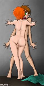 Rating: Explicit Score: 8 Tags: 1boy 1girl against_wall ass ben_10 benjamin_kirby_tennyson blush brown_hair cartoon_network full_body green_eyes gwendolyn_tennyson imminent_rape nude orange_hair prophet pussy sweat toweling_off User: Mechamech