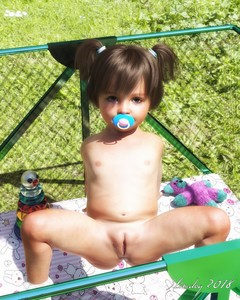 Rating: Explicit Score: 50 Tags: 1girl 2018 3dcg belly brown_eyes brown_hair bunny_print chain-link_fence dated flat_chest grass highres looking_at_viewer navel nipples nude original pacifier photorealistic pussy shadow short_twin_tails slimdog socks solo spread_legs stuffed_animal stuffed_toy toddlercon twin_tails uncensored User: Domestic_Importer