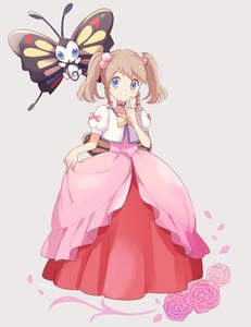 Rating: Safe Score: 1 Tags: 1girl alternate_costume alternate_hairstyle artist_name bangs beautifly blue_eyes blush bow braid brown_hair choker closed_mouth collarbone cropped_jacket dress eyebrows_visible_through_hair flat_chest flower full_body gen_3_pokemon grey_background hair_bobbles hair_bow hair_ornament hand_up happy haruka_(pokemon) jacket light_blush looking_at_viewer mei_(maysroom) pink_bow pink_dress pink_flower pink_rose pointing pointing_up pokemon pokemon_(anime) pokemon_(creature) pokemon_ag puffy_short_sleeves puffy_sleeves red_choker rose short_sleeves signature simple_background smile standing swept_bangs tied_hair twin_braids twin_tails white_jacket wings yellow_bow User: DMSchmidt