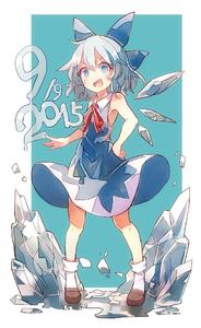 Rating: Safe Score: 1 Tags: 1girl 60mai :d >:d adapted_costume bare_arms bare_shoulders blue_eyes blue_hair blush bobby_socks cirno dress fang ice ice_wings loafers looking_at_viewer melting no_shirt open_mouth shoes short_hair sleeveless sleeveless_dress smile socks solo touhou_project wings User: DMSchmidt