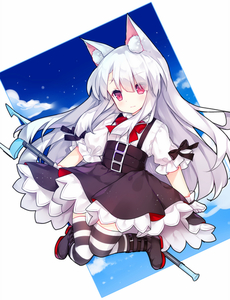 Rating: Safe Score: 0 Tags: 1girl animal_ears azur_lane bangs black_bow black_footwear black_skirt blue_sky boots bow bowtie cat_ears cloud erebus_(azur_lane) eyebrows_visible_through_hair eyes_visible_through_hair gloves hair_between_eyes high-waist_skirt holding long_hair puffy_short_sleeves puffy_sleeves red_eyes red_neckwear shirt short_sleeves silver_hair skirt sky solo striped striped_legwear suspender_skirt suspenders tengxiang_lingnai thighhighs very_long_hair white_gloves white_shirt User: Domestic_Importer