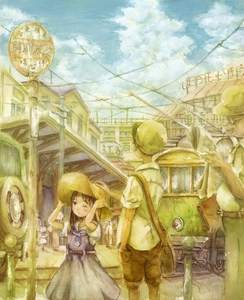 Rating: Safe Score: 0 Tags: 2boys 3girls ashida_(5232334) bag blurry city cloud depth_of_field dress glasses hand_in_pocket hand_on_another's_head hand_on_headwear hat highres mixed_media multiple_boys multiple_girls newspaper original power_lines railroad_tracks reading road satchel scenery sign sky sleeves_rolled_up street streetcar traditional_media watercolour_(medium) User: DMSchmidt