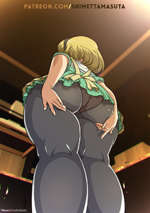 Rating: Questionable Score: 1 Tags: 1girl ass black_legwear blonde_hair ceiling dress from_behind from_below hairband higurashi_no_naku_koro_ni houjou_satoko huge_ass legs_together looking_down panties_under_pantyhose pantsu pantyhose plump shimetta_masuta short_sleeves solo standing thick_thighs thighs underwear watermark web_address wide_hips User: Domestic_Importer