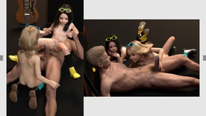 Rating: Explicit Score: 22 Tags: 1boy 2girls 3dcg after_sex age_difference ass bad_source black_hair blonde_hair blue_eyes boots cum cum_in_pussy cumdrip flat_chest guitar holding_penis kneeling lying metal_candy multiple_girls navel nipples nude penis photorealistic pubic_hair pussy reverse_cowgirl_position shadow siro smile socks sunglasses testicles User: fantasy-lover