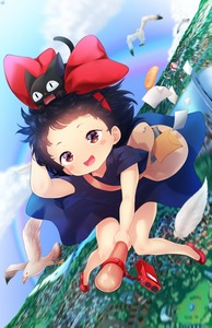 Rating: Safe Score: 0 Tags: 1girl animal_ears bag bird black_dress black_hair blush_stickers born-to-die cat cat_ears dress fangs full_body jiji_(majo_no_takkyuubin) kiki majo_no_takkyuubin open_mouth seagull shoes short_sleeves studio_ghibli User: Domestic_Importer