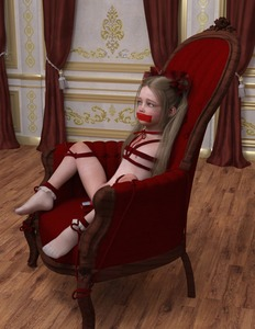 Rating: Explicit Score: 40 Tags: 1girl 3dcg alina_(mane) bdsm blonde_hair bondage bound chair choker dildo flat_chest hair_ribbon long_hair mane_(artist) nipples object_insertion photorealistic ribbon sex_toy sitting socks tape_gag tears twin_tails vaginal vaginal_object_insertion User: fantasy-lover
