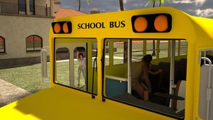 Rating: Explicit Score: 11 Tags: 1boy 1girl 3dcg age_difference from_behind kneeling lunarctic mother_and_daughter photorealistic school_bus school_uniform sex shoes skirt standing waving User: fantasy-lover