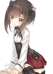 Rating: Safe Score: 1 Tags: 1girl artist_logo black_legwear black_shorts brown_eyes brown_hair capriccio corset cowboy_shot flat_chest headband headgear highres kantai_collection looking_at_viewer muneate pleated_skirt red_skirt short_hair shorts simple_background skirt solo spats taihou_(kantai_collection) thighhighs white_background User: DMSchmidt