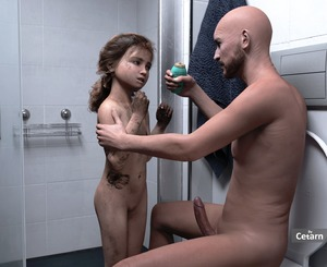 Rating: Explicit Score: 25 Tags: 1boy 1girl 3dcg age_difference bathroom cetarn dirty flat_chest navel nipples nude penis photorealistic pussy shadow sitting standing toilet User: fantasy-lover