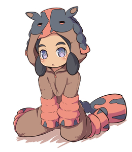 Rating: Safe Score: 0 Tags: 1girl bangs black_hair blush brown_jumpsuit colored_shadow cosplay creatures_(company) full_body game_freak gen_7_pokemon hapu'u_(pokemon) hood hood_up jumpsuit long_hair looking_at_viewer mudsdale mudsdale_(cosplay) nekono_rin nintendo parted_bangs parted_lips pokemon pokemon_(creature) pokemon_(game) pokemon_sm purple_eyes shadow sitting solo thick_eyebrows wariza white_background User: Domestic_Importer