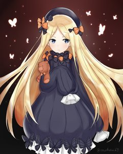 Rating: Safe Score: 0 Tags: abigail_williams_(fate/grand_order) bangs black_dress black_headwear blonde_hair blue_eyes bow bug butterfly conchiem69 dress fate/grand_order fate_(series) forehead hair_bow highres holding holding_stuffed_animal insect long_hair object_hug orange_bow parted_bangs polka_dot polka_dot_bow purple_bow sleeves_past_fingers sleeves_past_wrists stuffed_animal stuffed_toy teddy_bear very_long_hair white_bloomers white_skin User: Domestic_Importer