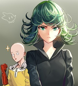 Rating: Safe Score: 0 Tags: 1boy 1girl :d artist_name black_dress cape dress frown gloves green_eyes green_hair one-punch_man open_mouth red_gloves rod_(rod4817) saitama_(onepunch_man) smile tatsumaki User: DMSchmidt