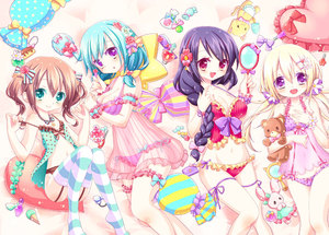 Rating: Safe Score: 1 Tags: 4girls :d :o aqua_eyes arm_garter babydoll bangs bare_shoulders bed_sheet blonde_hair blue_bow blue_hair blue_ribbon blush bottomless bow bow_panties braid breasts brown_hair camera candy cleavage closed_mouth collarbone cowtits eyebrows_visible_through_hair fingernails flat_chest flower food frilled_panties frilled_pillow frills garter_belt hair_between_eyes hair_bow hair_brush hair_flower hair_ornament hair_over_shoulder hairband hairclip halter_top halterneck hand_mirror hand_on_own_chest hands_up heart heart_pillow hitoaida holding holding_stuffed_animal large_breasts leg_ribbon lollipop long_hair looking_at_mirror looking_at_viewer low_twintails lying medium_breasts mirror multiple_girls nail_polish_bottle navel on_back on_side open_mouth original pantsu parted_lips pillow polka_dot polka_dot_panties polka_dot_pillow purple_bow purple_eyes purple_hair purple_panties purple_ribbon red_bow red_eyes red_hairband ribbon see-through sidelocks single_braid small_breasts smile star_pillow strap_slip striped striped_bow striped_legwear striped_pillow stuffed_animal stuffed_bunny stuffed_cat stuffed_toy teddy_bear thighhighs twin_tails underwear wrapped_candy wrist_cuffs wrist_flower User: Domestic_Importer