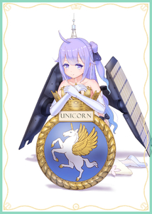 Rating: Safe Score: 0 Tags: 1girl ahoge alicorn azur_lane bare_shoulders black_ribbon blush border collarbone coloured_eyelashes dress elbow_gloves emblem full_body gloves gold_trim gradient_hair hair_ribbon headgear lace lace-trimmed_gloves lace-trimmed_ribbon lavender_eyes lavender_hair leaning_forward looking_at_viewer multicoloured_hair one_side_up own_hands_together ribbon rigging royal_navy shadow side_bun simple_background solo strapless strapless_dress unicorn_(azur_lane) white_background white_dress white_gloves white_legwear yamikota User: DMSchmidt