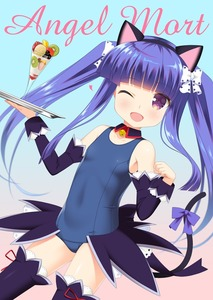 Rating: Safe Score: 0 Tags: 1girl ;d alternate_hairstyle angel_mort animal_ears bangs bare_shoulders bell blue_swimsuit blunt_bangs bow breasts cat_ears cat_tail collarbone detached_collar detached_sleeves fake_animal_ears food furude_rika gaou gradient gradient_background hair_bow hairband higurashi_no_naku_koro_ni jingle_bell long_hair looking_at_viewer one-piece_swimsuit one_eye_closed open_mouth parfait paw_pose purple_eyes school_swimsuit sidelocks simple_background small_breasts smile solo swimsuit tail thighhighs tray twin_tails white_bow User: Domestic_Importer