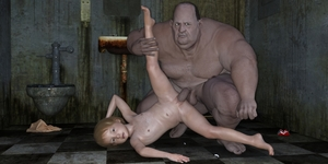 Rating: Explicit Score: 10 Tags: 1boy 1girl 3dcg age_difference artist_request barefoot blonde_hair blue_eyes fat_man flat_chest freckles hetero looking_at_viewer navel nipples nude penis photorealistic pussy sex short_hair testicles top-down_bottom-up vaginal User: fantasy-lover