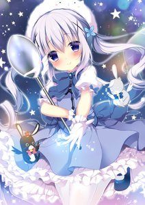 Rating: Safe Score: 0 Tags: 1girl :< alternate_costume alternate_hairstyle angora_rabbit animal animal_on_head bangs bare_shoulders black_wings blue_dress blue_footwear blue_neckwear blush bow bowtie brooch bunny closed_mouth crown dress eyebrows_visible_through_hair floating_hair gloves gochuumon_wa_usagi_desu_ka? hair_between_eyes hair_ornament head_tilt holding holding_spoon jewellery kafuu_chino leg_up long_hair looking_at_viewer mary_janes mini_crown on_head outstretched_arm outstretched_hand oversized_object pantyhose petticoat pink_neckwear puffy_short_sleeves puffy_sleeves purple_eyes purple_hair reaching_out shibainu_niki shiny shiny_hair shoes short_dress short_sleeves smile sparkle star striped_neckwear twin_tails very_long_hair white_gloves white_legwear white_wings wings x_hair_ornament User: Domestic_Importer