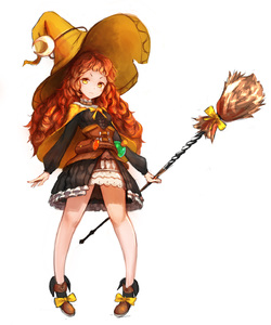 Rating: Safe Score: 2 Tags: 1girl absurdres black_skirt broom brown_hair brown_shoes full_body hat highres holding holding_broom long_hair potion rinu99 shoes sketch skirt solo standing tree_of_savior witch_hat wizard_(tree_of_savior) yellow_cape yellow_eyes yellow_hat User: DMSchmidt