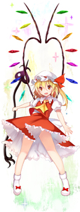 Rating: Safe Score: 0 Tags: 1girl absurdres ascot bangs bare_legs blonde_hair bow collared_shirt crystal efe eyebrows_visible_through_hair fang flandre_scarlet frilled_skirt frills full_body hair_between_eyes hat hat_ribbon highres holding laevatein long_hair looking_at_viewer miniskirt mob_cap one_side_up open_mouth puffy_short_sleeves puffy_sleeves red_bow red_eyes red_ribbon red_skirt red_vest ribbon shirt shoe_bow shoes short_sleeves skirt skirt_set smile solo standing touhou_project vest white_footwear white_shirt wing_collar wings yellow_neckwear User: DMSchmidt