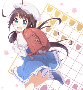 Rating: Safe Score: 1 Tags: 10s 1girl :d ass backpack bag beret blue_dress blue_eyes blue_footwear blush board_game bobby_socks brown_hair dress hat hinatsuru_ai long_hair long_sleeves looking_at_viewer looking_to_the_side low_twintails open_mouth puffy_short_sleeves puffy_sleeves randoseru ryuuou_no_oshigoto! school_uniform shoes short_over_long_sleeves short_sleeves shougi smile socks solo standing standing_on_one_leg toma_(shinozaki) twin_tails upper_teeth very_long_hair white_hat white_legwear User: Domestic_Importer