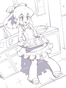 Rating: Safe Score: 1 Tags: 1girl :d biscuit blush capcom dress food hair_ribbon kitchen long_hair monochrome open_mouth oven_mitts ponytail ribbon rockman rockman_(classic) roll sandals sidelocks smile solo sundress toufu_yarou tray User: DMSchmidt