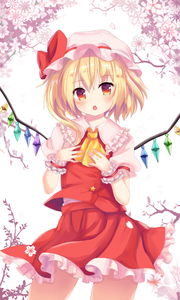 Rating: Safe Score: 0 Tags: 1girl arm_ribbon ascot bangs blonde_hair blush bow collared_shirt cowboy_shot crystal dress_shirt eyebrows_visible_through_hair flandre_scarlet flower frilled_cuffs frilled_shirt_collar frilled_skirt frills hands_on_own_chest hands_up hat hat_bow legs_apart looking_at_viewer mob_cap open_mouth orange_eyes puffy_short_sleeves puffy_sleeves red_bow red_eyes red_skirt red_vest ribbon shirt short_sleeves side_ponytail skirt skirt_set solo spread_wings teeth touhou_project vest wei_re white_hat white_shirt wings wrist_cuffs yellow_ascot User: Domestic_Importer