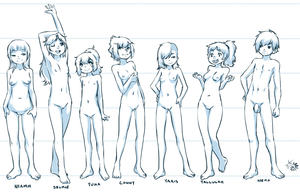 Rating: Explicit Score: 8 Tags: 1boy 6+girls aogami arms_over_head arms_up bangs blunt_bangs breasts hands_on_hips high_ponytail highres long_hair multiple_girls navel nipples nude open_mouth penis ponytail pussy short_hair shota smile standing testicles uncensored User: DMSchmidt