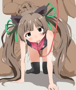 Rating: Explicit Score: 7 Tags: 1boy 1girl ahoge all_fours animal_ears bangs bare_arms bare_shoulders bdsm black_legwear blunt_bangs blush clothed_female_nude_male collar dark hakozaki_serika idolmaster idolmaster_million_live! nude trg-_(sain) User: Domestic_Importer