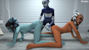 Rating: Explicit Score: 8 Tags: 3dcg 3girls aayla_secura ahsoka_tano all_fours artist_name ass clone_wars dildo disney doggystyle double_dildo hand_on_another's_ass interspecies kirelic multiple_girls nude open_mouth oral photorealistic sex_toy star_wars togruta top-down_bottom-up uncensored yuri User: Software