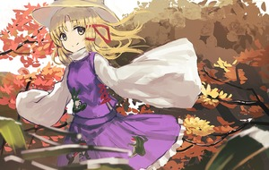 Rating: Safe Score: 0 Tags: 1girl animal_print bangs blonde_hair blurry blurry_foreground breasts closed_mouth cowboy_shot depth_of_field eyebrows_visible_through_hair frilled_skirt frills frog_print hair_ribbon hat leaf long_hair long_sleeves looking_at_viewer moriya_suwako outdoors parted_bangs purple_skirt purple_vest red_ribbon ribbon ryokucha_manma shirt skirt skirt_set sleeves_past_fingers sleeves_past_wrists small_breasts smile solo touhou_project tree turtleneck vest white_shirt wide_sleeves yellow_eyes User: DMSchmidt