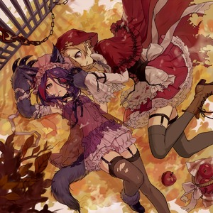 Rating: Safe Score: 1 Tags: 2girls animal_ears apple apron arms_up autumn_leaves babydoll bad_id bad_pixiv_id bandaged_arm bandages bangs basket big_bad_wolf big_bad_wolf_(cosplay) black_collar black_legwear blonde_hair blood bloody_clothes bloomers blush boots bow bowtie brown_footwear brown_legwear capelet chain collar corset cosplay cross-laced_footwear earrings eyebrows_visible_through_hair eyepatch fence food frilled_apron frills fruit garter_straps gloves gradient_hair hair_over_one_eye hat hayasaka_mirei high_heel_boots high_heels highres hood hooded_capelet idolmaster idolmaster_cinderella_girls jewellery lace-up_boots leaf little_red_riding_hood little_red_riding_hood_(grimm) little_red_riding_hood_(grimm)_(cosplay) long_hair long_sleeves lying miniskirt mob_cap multicoloured_hair multiple_girls navel on_back on_side parted_lips paw_gloves paws pink_hat plaid pleated_skirt purple_hair red_apple red_capelet red_cloak red_eyes red_hair red_skirt see-through shirasaka_koume shirt short_hair skirt sleeves_past_wrists spiked_collar spikes tail tamaext thighhighs torn_clothes torn_thighhighs underwear waist_apron white_apron white_bloomers white_bow white_neckwear white_shirt white_skirt wolf_ears wolf_girl wolf_tail User: DMSchmidt