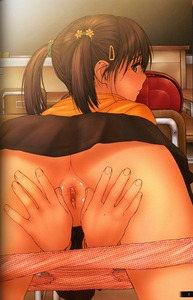 Rating: Explicit Score: 24 Tags: 1girl ass back backpack bag bent_over black_hair blush bottomless brown_eyes brown_hair chair chalkboard classroom clitoral_hood clitoris decensored desk eraser erect_clitoris fingering flat_chest flower from_behind hair_flower hair_ornament hair_ribbon hairclip hairpin hands_between_legs highres lolicon_special_1 looking_at_viewer looking_back orange_panties original pantsu pantsu_pull pov presenting pussy pussy_juice randoseru ribbon rustle school school_bag school_desk shaved_pussy shirt short_hair skirt skirt_lift solo spread_legs spread_pussy tagme third-party_edit tied_hair twin_tails uncensored underwear upskirt User: Software