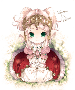 Rating: Safe Score: 2 Tags: 1girl character_name dress final_fantasy final_fantasy_xiv green_eyes highres lalafell long_hair long_sleeves looking_at_viewer mizutani_yuzu nanamo_ul_namo pink_dress pink_hair pointy_ears red_dress sitting smile solo tiara twin_tails User: DMSchmidt