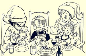 Rating: Safe Score: 1 Tags: 2boys 2girls arms_up baby black_eyes black_hair black_shirt bra_(dragon_ball) brother_and_sister bulma cake chair closed_eyes dragon_ball eating family father_and_son food fork frown happy hat highres lee_(dragon_garou) long_sleeves looking_at_another monochrome mother_and_son multiple_boys multiple_girls open_mouth overalls plate santa_hat serious shirt short_hair siblings sitting toddlercon trunks_(dragon_ball) vegeta User: Domestic_Importer