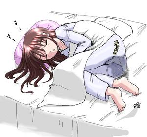 Rating: Questionable Score: 0 Tags: 1girl barefoot bed bedwetting brown_hair closed_eyes homare_(suzu_no_oka) long_hair pajamas pee peeing peeing_self sleeping solo source_request User: DMSchmidt