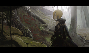 Rating: Safe Score: 1 Tags: 1girl :d blonde_hair day fog forest from_side highres hood hood_down idolmaster idolmaster_cinderella_girls letterboxed light_particles monster_hunter nature open_mouth outdoors profile red_eyes robe shirasaka_koume short_hair sideways_mouth smile solo spikes standing tree waterkuma User: DMSchmidt