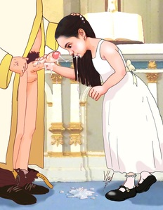 Rating: Explicit Score: 14 Tags: 1boy 1girl absurdres after_sex age_difference black_hair church cum cum_in_mouth cum_on_body cum_on_hand cum_on_upper_body cumdrip dress earrings facial flat_chest hand_on_another's_head highres holding_penis jewellery long_hair mary_janes pants_pull penis priest pubic_hair realistic shoes socks standing testicles vladjav User: fantasy-lover