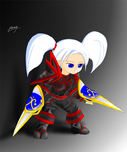 Rating: Safe Score: 0 Tags: 1girl alarmy armour blue_eyes gun of shield sitting solo tagme twin_tails warcraft weapon white_hair world world_of_warcraft User: DMSchmidt