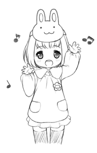 Rating: Safe Score: 1 Tags: 1girl happy kindergarten_uniform long_sleeves miyasaka_takaji musical_note open_mouth simple_background sketch solo standing teeth toddlercon white_background User: Domestic_Importer