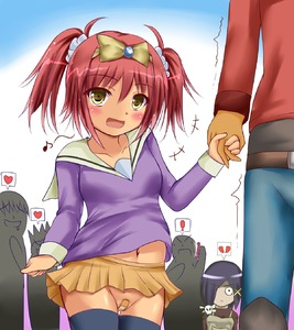 Rating: Questionable Score: 0 Tags: ! :d bandaid bandaid_on_pussy bangs black_hair blush bow broken_heart character_request collarbone cowboy_shot drooling duel_angel eyebrows eyebrows_visible_through_hair hair_bow hair_ornament heart holding_hands long_sleeves looking_at_viewer musical_note navel nopan open_mouth pleated_skirt red_hair saliva scrunchie skirt smile standing sweat tag_force thighhighs trembling twin_tails x_hair_ornament yasuda_uria yellow_eyes yu-gi-oh!_5d's_tag_force yuu-gi-ou yuu-gi-ou_5d's User: Domestic_Importer