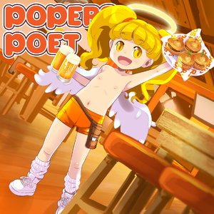 Rating: Explicit Score: 0 Tags: 1girl alcohol armpit burger eyebrows eyebrows_visible_through_hair flat_chest food halo highres holding indoors long_hair navel open_mouth osamu_yagi plate poet_(pop'n_music) pop'n_music shirtless solo standing stool twin_tails wings wooden_floor yellow_eyes User: ShizKoE2