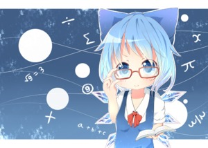Rating: Safe Score: 0 Tags: (9) 1girl akisha bespectacled blue_eyes blue_hair book bow cirno glasses hair_bow ice looking_at_viewer short_hair smile solo team_shanghai_alice touhou_project wings User: Domestic_Importer