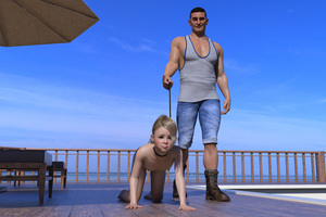 Rating: Explicit Score: 11 Tags: 1boy 1girl 3dcg age_difference barefoot blonde_hair boots collar flat_chest jkreh kneeling leash long_hair looking_at_viewer nipples nude obedience_training photorealistic ponytail pose sad smile standing User: fantasy-lover