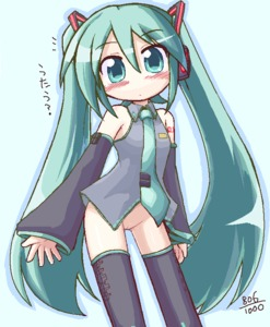 Rating: Explicit Score: 0 Tags: aqua_eyes aqua_hair bare_shoulders blush bottomless detached_sleeves hatsune_miku ikkyuu long_hair necktie pussy thigh_gap thighhighs twin_tails uncensored very_long_hair vocaloid User: DMSchmidt