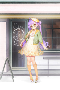 Rating: Safe Score: 1 Tags: 1girl ahoge alternate_costume azur_lane bag beret bespectacled black-framed_eyewear blue_bow blush bow closed_mouth door double_bun dress glasses green_bow green_jacket hand_up hat highres jacket kneehighs long_hair long_sleeves orange_legwear orry outdoors pink_bow puffy_long_sleeves puffy_sleeves purple_bow purple_hair round_eyewear shoes shoulder_bag side_bun sidelocks sign smile solo standing storefront tilted_headwear twin_tails unicorn_(azur_lane) very_long_hair white_bow white_dress white_footwear white_hat window User: DMSchmidt
