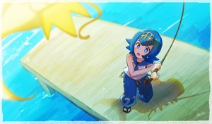 Rating: Safe Score: 0 Tags: 1girl alternate_colour artist_name bare_shoulders black_footwear blue_eyes blue_hair blue_pants blue_sailor_collar blush border creatures_(company) fishing fishing_rod flat_chest from_above full_body game_freak gen_1_pokemon hairband hands_up holding looking_up magikarp matching_hair/eyes miu_(miuuu_721) nintendo npc_trainer open_mouth pants pier pokemon pokemon_(game) pokemon_sm sailor_collar sandals shadow shiny_pokemon shirt short_hair signature sleeveless sleeveless_shirt standing suiren_(pokemon) surprised teeth trial_captain water white_shirt yellow_hairband User: DMSchmidt