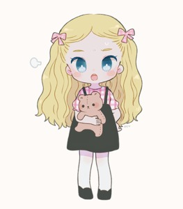 Rating: Safe Score: 0 Tags: 1girl ayu_(mog) black_border black_dress black_footwear blonde_hair blue_eyes blush_stickers border bright_pupils dress full_body grey_background hair_ornament hair_ribbon holding long_hair looking_at_viewer open_mouth original pinafore_dress ribbon shoes short_sleeves simple_background solo standing stuffed_animal stuffed_toy sweatdrop teddy_bear User: DMSchmidt