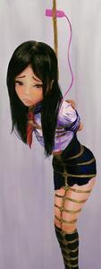 Rating: Questionable Score: 1 Tags: 1girl bdsm bondage bound ikelag kinbaku shibari solo User: DMSchmidt