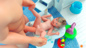 Rating: Explicit Score: 46 Tags: 1boy 1girl 3dcg age_difference anal baby blonde_hair blue_eyes bottle breasts dildo penis pixlopix_(artist) pussy sex_toy size_difference small_breasts toddlercon User: lalau